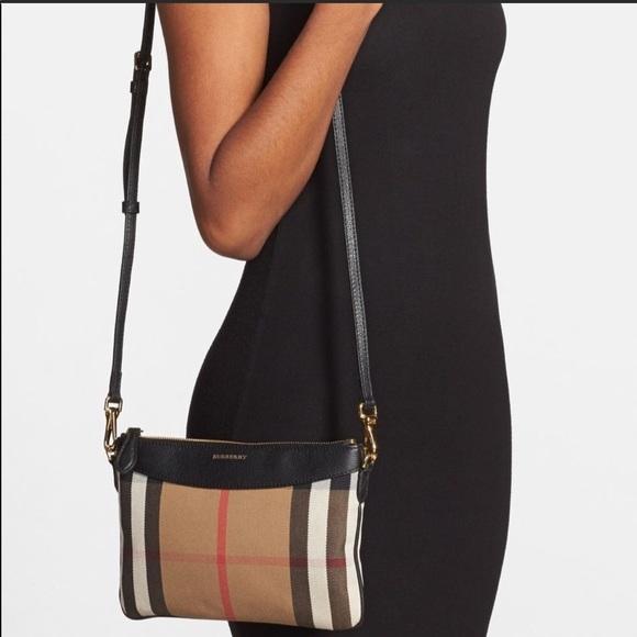 e9c099ebd2dd Burberry Handbags - Burberry Black Peyton Check Crossbody